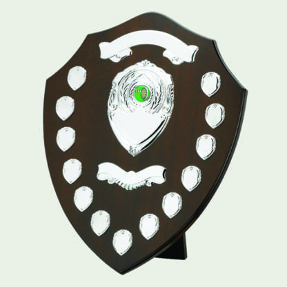 16 Inch Traditional Dark Wood Annual Shields