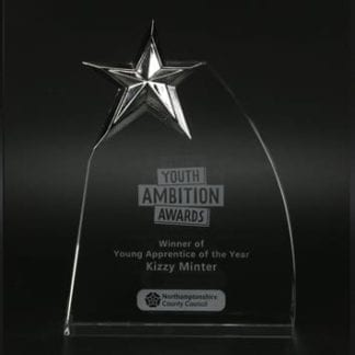 25mm Star Glass Award