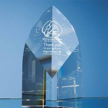 Arch Crystal Glass Trophy