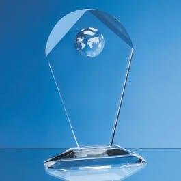 arch shape glass award