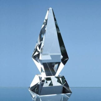 Glacier crystal glass trophy