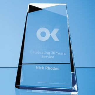 Tapered rectangle glass award