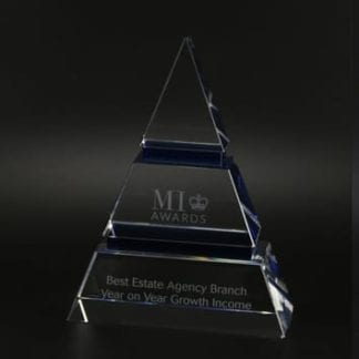 Luxor Triangle Crystal Glass Award