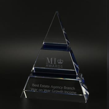 Luxor Triangle Crystal Glass Award