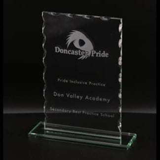 Cut Oblong Glass Award