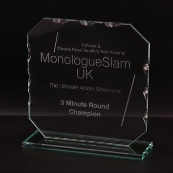 Cut Octagon Glass Award