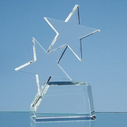 double rising star glass award