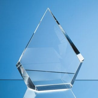 facet diamond crystal glass trophy