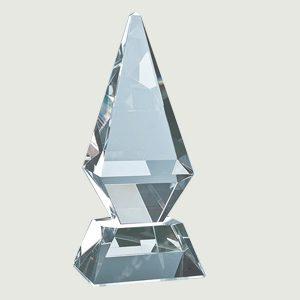 glacier crystal glass trophy