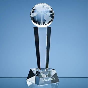 Globe Column Glass Award