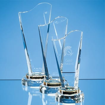Golden Torch Crystal Glass Trophy