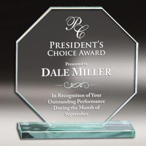 Octagonal Glass Award