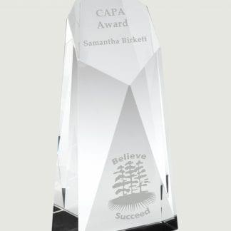 sliced bevelled pillar trophy
