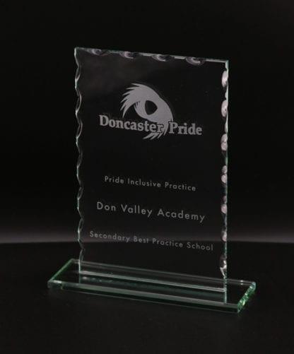 Cut Oblong Glass Award