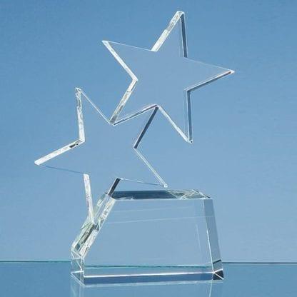 Double Rising Star Glass Award