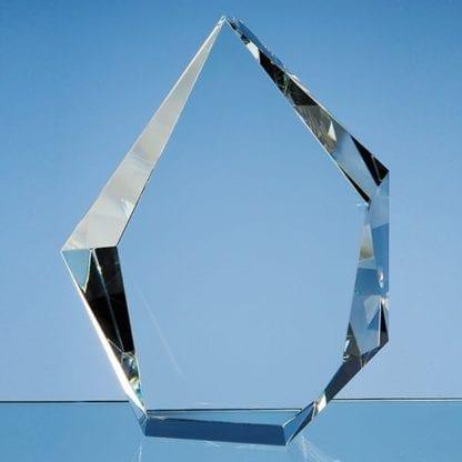Facet Iceberg Crystal Glass Trophy