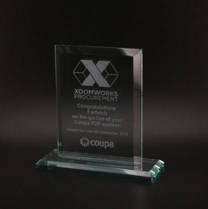 Glass Ruby Shaped Award