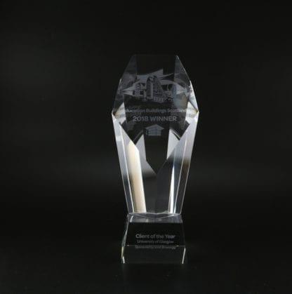 Heptagon Glass Trophy