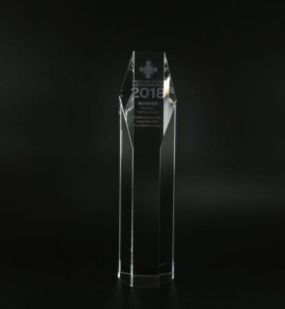 Hexagonal Column Trophy