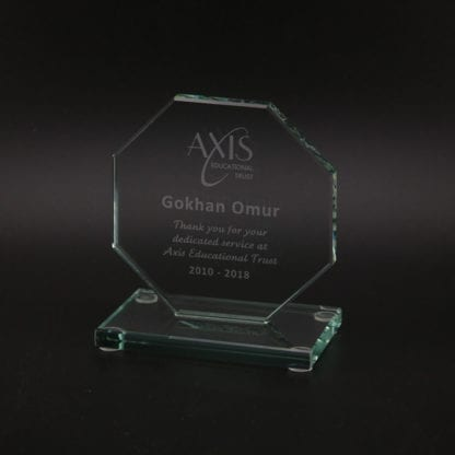 Octagonal Glass Award