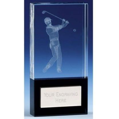 Glass Golfer Trophy