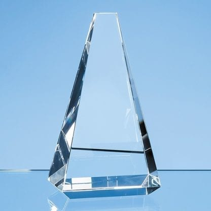 Vantage Peak Crystal Glass Trophy