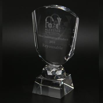BAFTA glass trophy