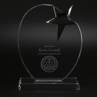 Oval start glass award