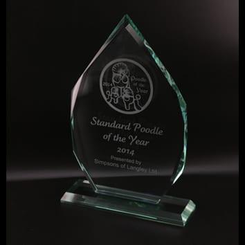 Teardrop Glass Award