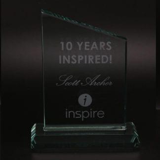 Tower jade glass award