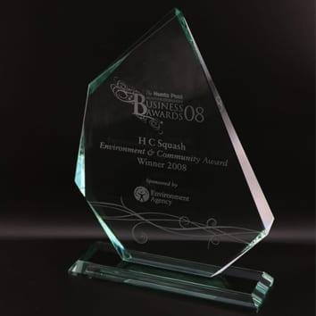 Irregular Iceberg Glass Award
