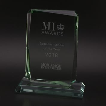 Oblong Glass Award with Bevelled Edge
