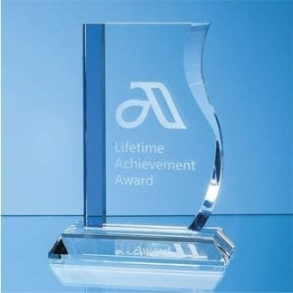 Optic Blue Sided Wave Award