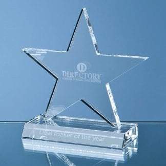 optic crystal cut out star award