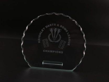 Oval Cut Glass Award