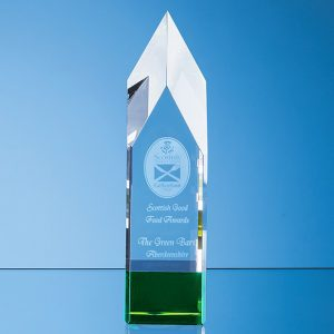 Pointed Monolith Crystal Glass Trophy