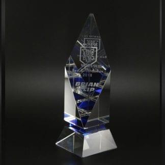 Blue diamond trophy