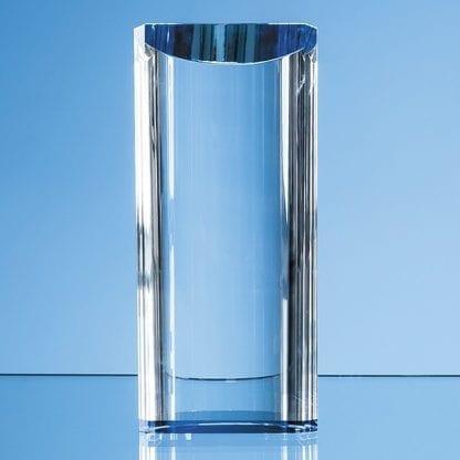 semi circular cylinder glass trophy