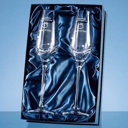 diamante champagne flutes box