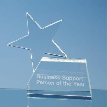 Single Rising Star Glass Award