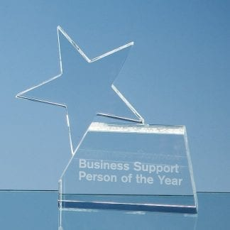 single rising star glass award