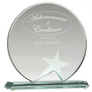 Circle Glass Star Award