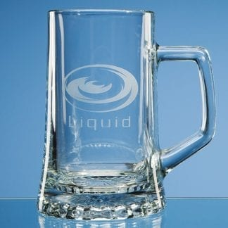 Stern glass tankard