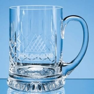 Straight Cut Glass Tankard with panel