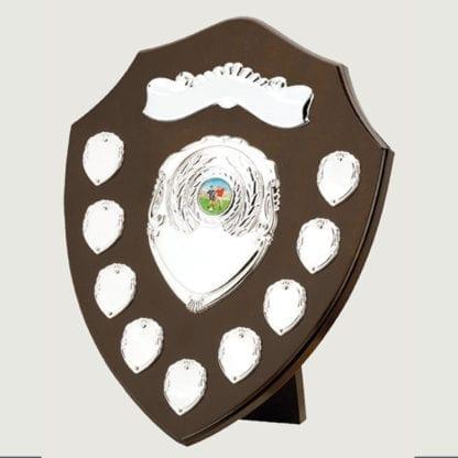 Traditional Dark Wood Annual Shield