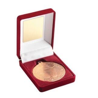 bronze golf medal in box