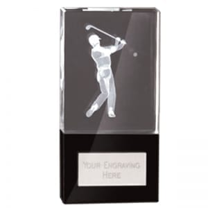 Glass Golfer Trophy