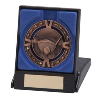 Bronze Golf Medal In Box