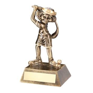 Female Golf Character Trophy