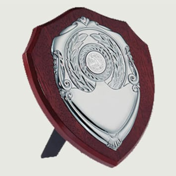 Traditional Dark Wood Replica Shields